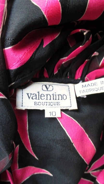 Valentino Boutique Silk Dress With Open Back 8