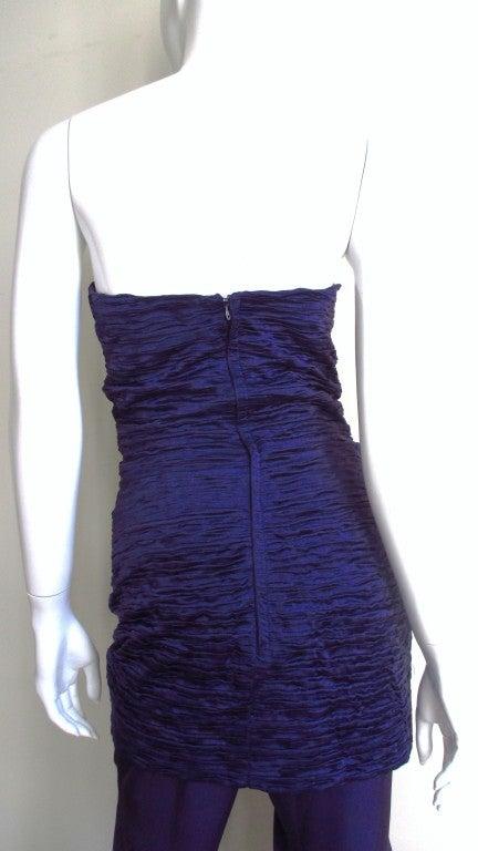 1980's Gianni Versace Silk Corset Jumpsuit 7