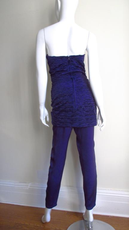 1980's Gianni Versace Silk Corset Jumpsuit 9