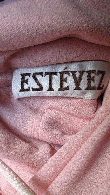 Estevez Vintage Glamour One Shoulder Gown 9