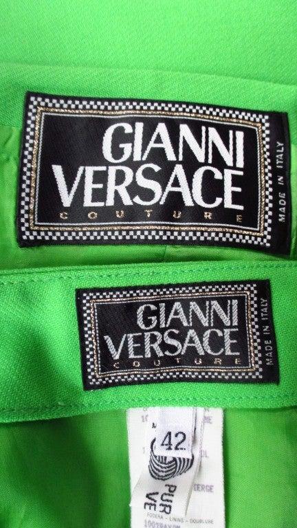 Vintage Versace Bustier Corset Jacket & Skirt For Sale 2