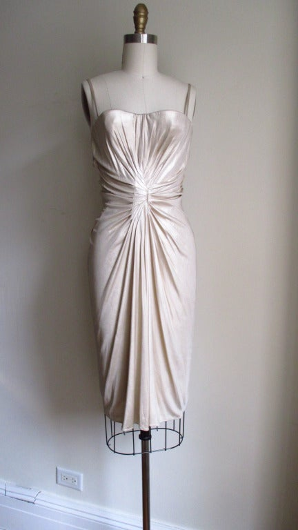 Christian Dior Ruched Corset Bustier Dress At 1stdibs