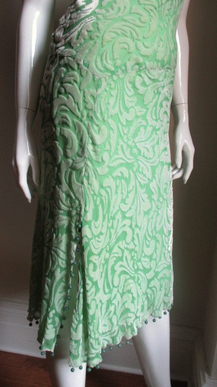 1990s Gianni Versace Silk Velvet Dress In Good Condition For Sale In New York, NY