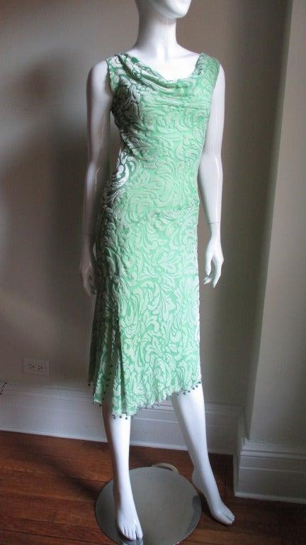 Women's 1990s Gianni Versace Silk Velvet Dress For Sale