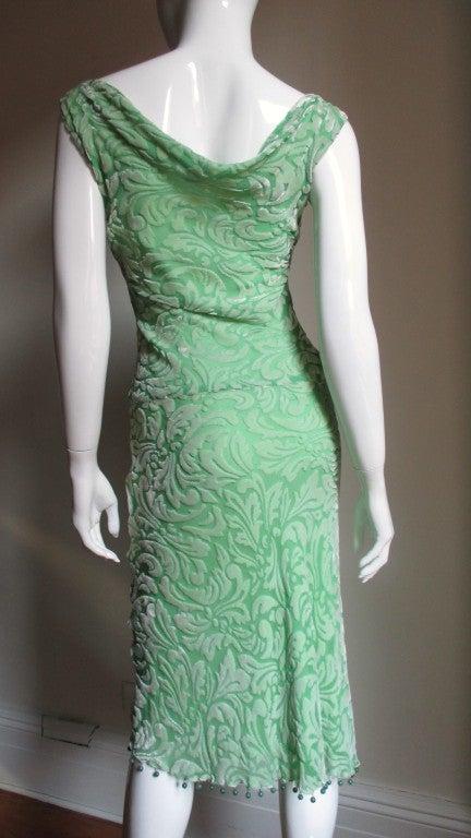 1990s Gianni Versace Silk Velvet Dress For Sale 1