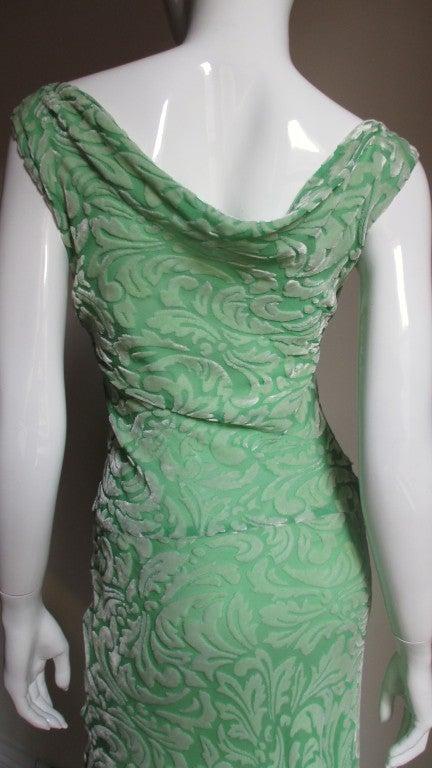 1990s Gianni Versace Silk Velvet Dress For Sale 2