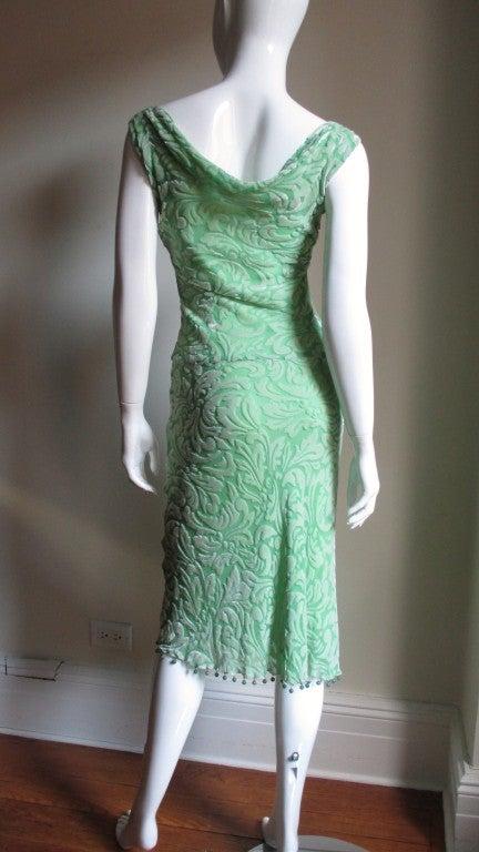 1990s Gianni Versace Silk Velvet Dress For Sale 3