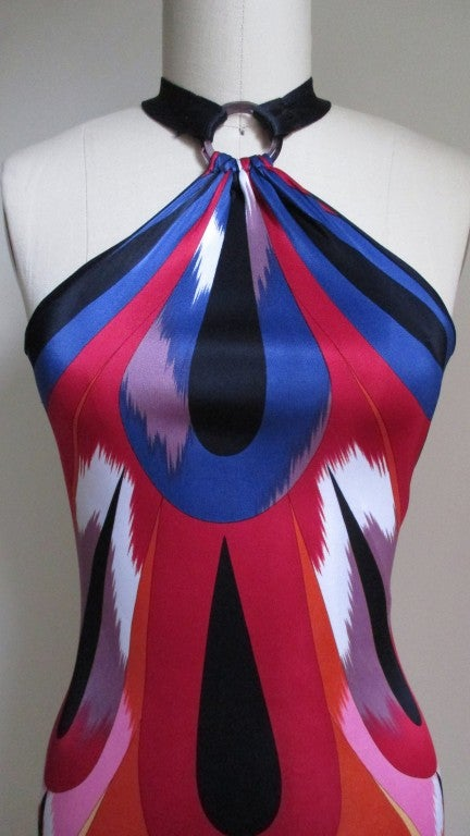 Missoni Silk Halter Dress For Sale At 1stdibs