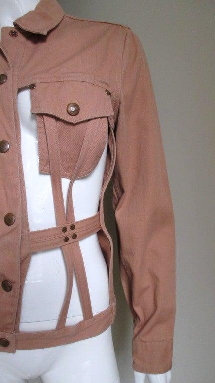 Brown Vintage Junior Gaultier Cage Jacket