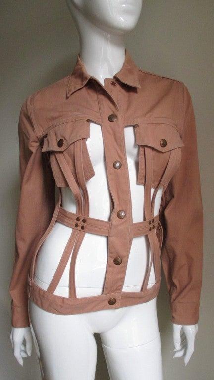 Vintage Junior Gaultier Cage Jacket In Excellent Condition In New York, NY