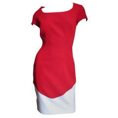 1990s Thierry Mugler Color Block Dress
