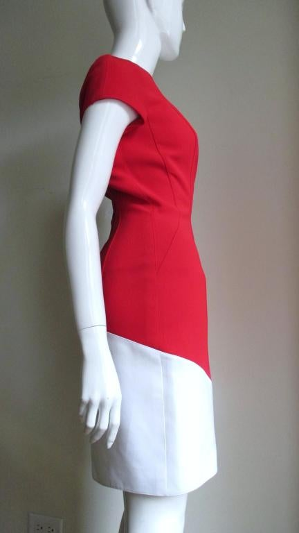 1990s Thierry Mugler Color Block Dress In New never worn Condition For Sale In New York, NY