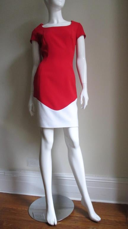 Women's 1990s Thierry Mugler Color Block Dress For Sale