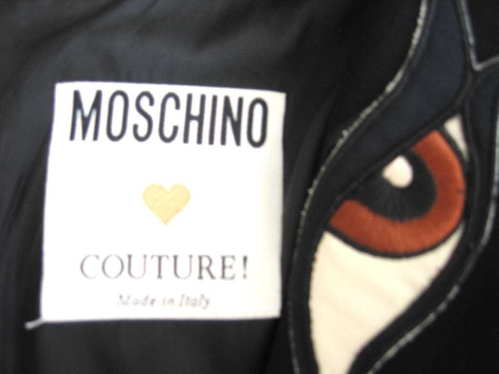 "Moschino ""Eyes"" in Back Dress 4"