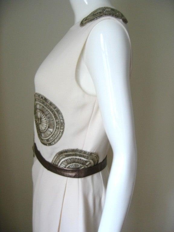 1990s Bill Blass Silk Dress With Elaborate Beading 3