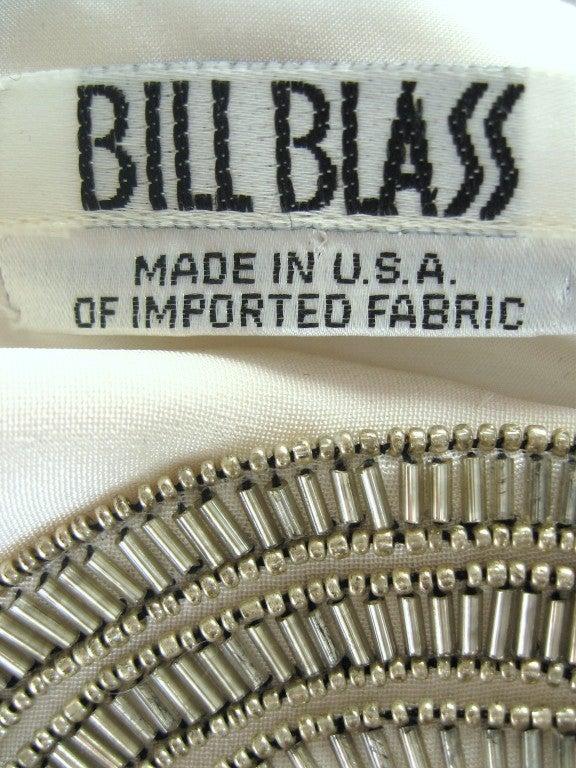 1990s Bill Blass Silk Dress With Elaborate Beading 10