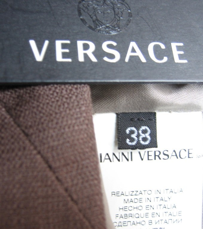 Versace New Spiral Seamed Dress For Sale 5