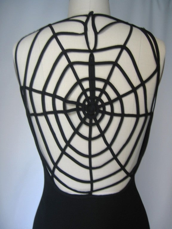 1990's Sophie Sitbon Spider Web Dress In Excellent Condition For Sale In New York, NY