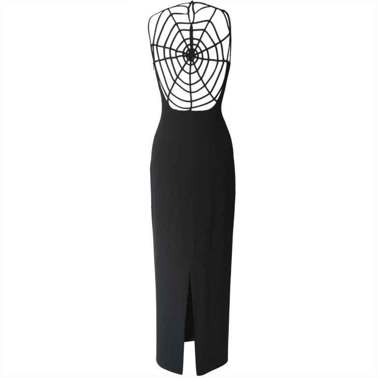 1990's Sophie Sitbon Spider Web Dress 1
