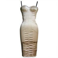 Dolce & Gabbana Gold Corset Bustier Dress