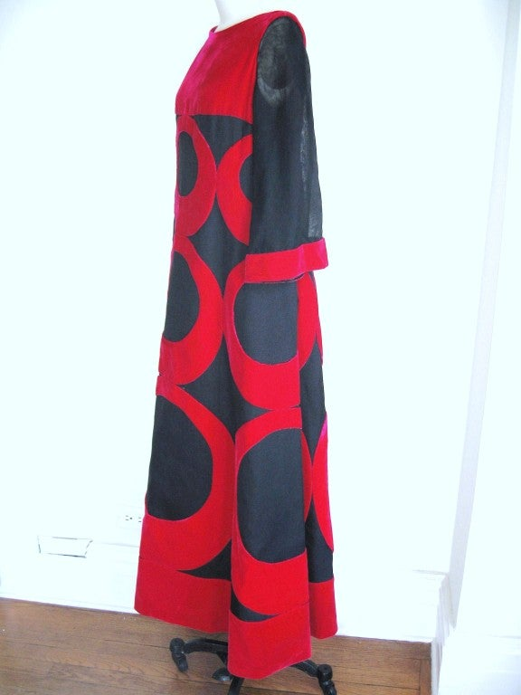 Iconic 1960's Pierre Balmain Couture Silk Maxi Gown 5