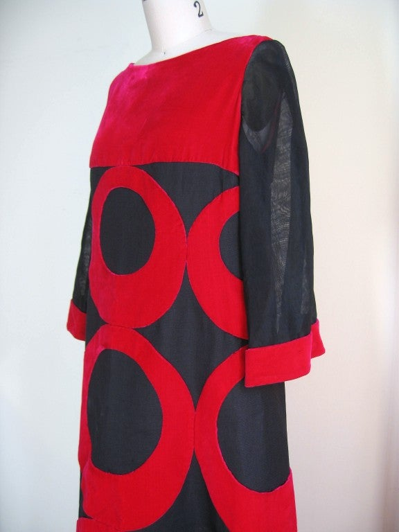 Iconic 1960's Pierre Balmain Couture Silk Maxi Gown 6