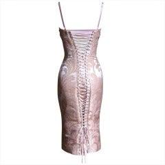 Dolce & Gabbana Silk Corset Bustier Dress w Back Lacing