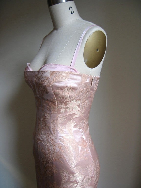 Dolce & Gabbana Silk Corset Bustier Dress w Back Lacing 6