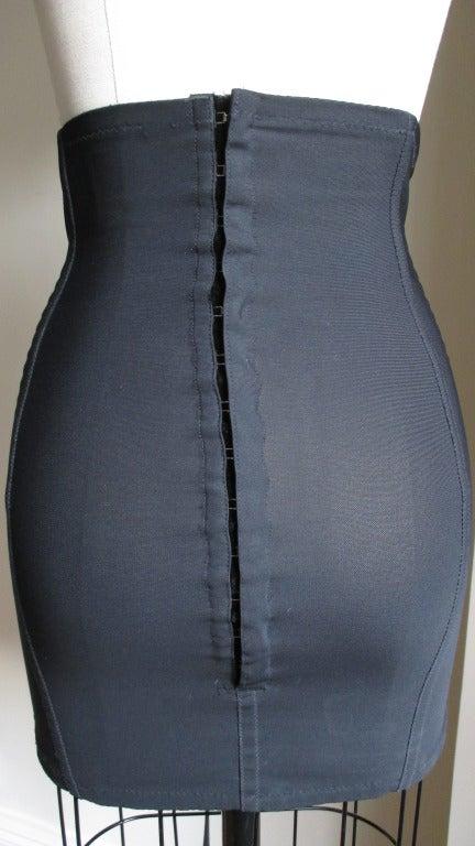 Dolce And Gabbana Silk Lace Up Corset Skirt At 1stdibs