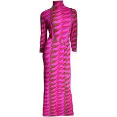 1970's La Mendola Maxi Dress