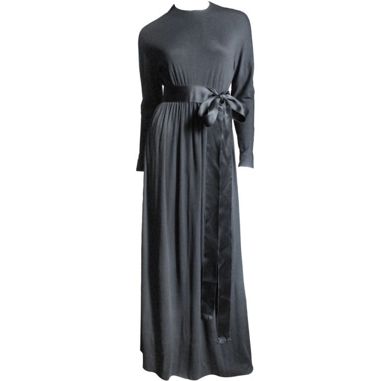 1960's Norman Norell Attributed Maxi Dress For Sale