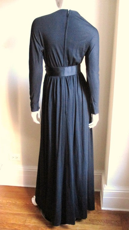 1960's Norman Norell Attributed Maxi Dress In Excellent Condition For Sale In New York, NY