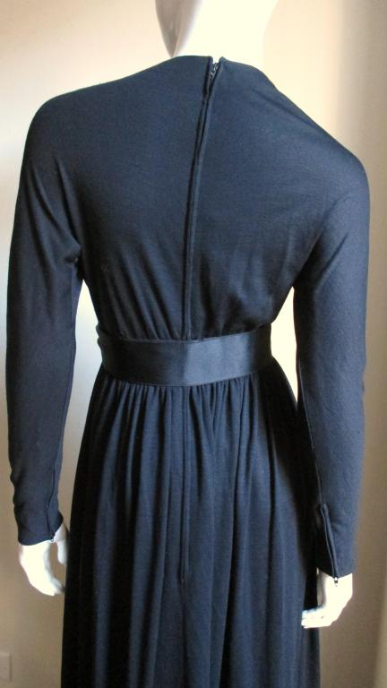 Black 1960's Norman Norell Attributed Maxi Dress For Sale