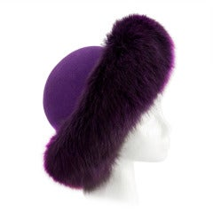 Purple Fox and Wool Felt Hat