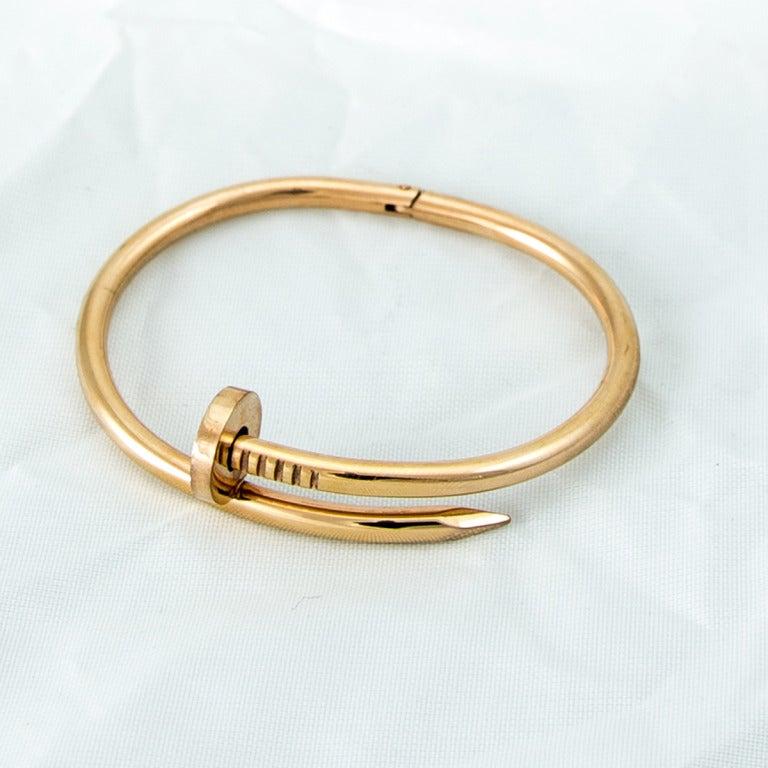Cartier style Juste un Clou Nail Bracelet at 1stdibs