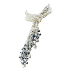 Pearls and Crystal Multi-strand Statement Necklace
