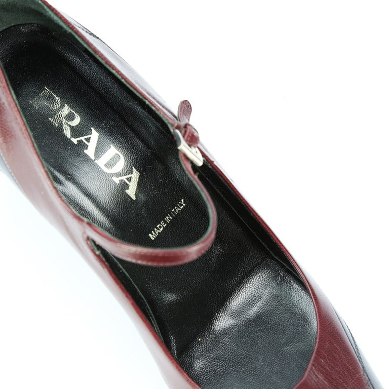 RARE Prada VERO CUOIO Bi-color Leather Pumps 2