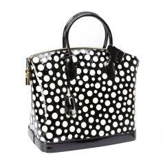 Authentic Yayoi Kusama for Louis Vuitton Black and White Polka Dot Purse NIB