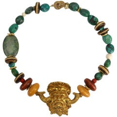 Unique Turquoise Neptune Necklace