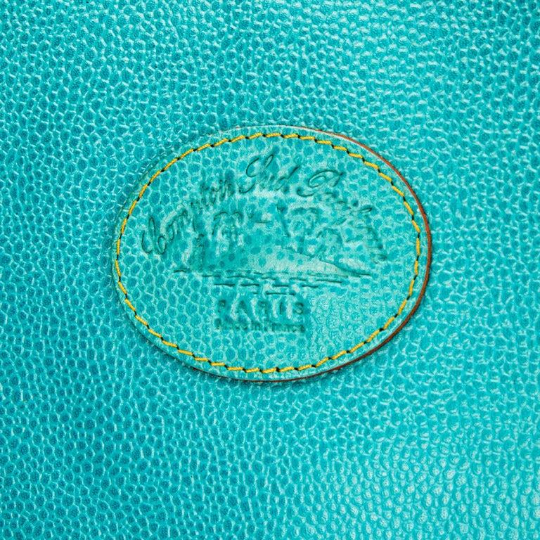 Women's Leather Clutch Bag by Comptoir Sud Pacifique Paris France For Sale