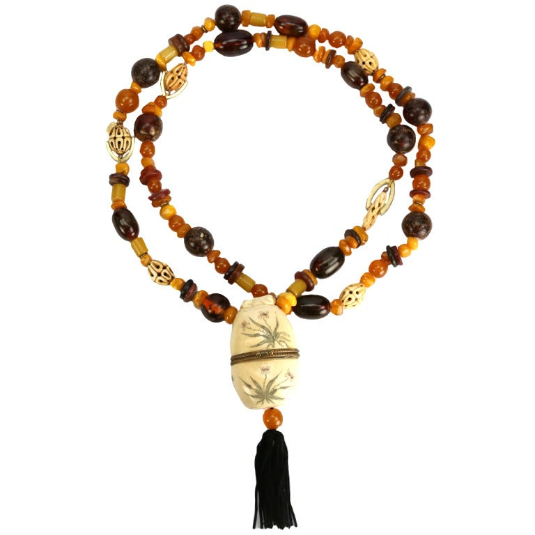 one of a ivory stash necklace at 1stdibs