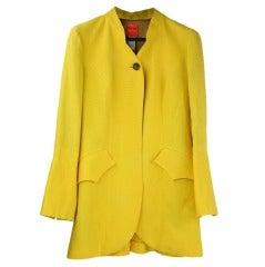 Vintage Christian Lacroix Yellow Linen Jacket