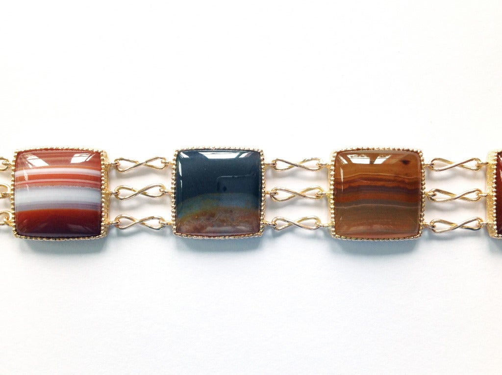Dalben Agate Rose Gold Link Bracelet In New Condition For Sale In Como, IT