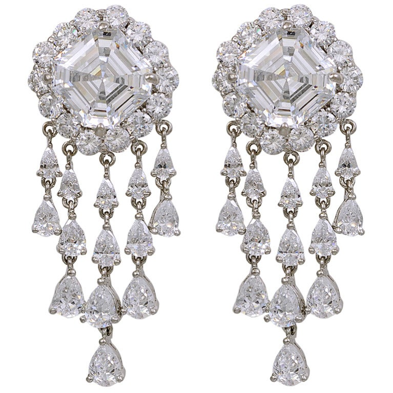Most Glamourous Faux Diamond Chandeliers Earclips 1
