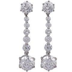 Simple Sparkling Drop Earrings