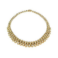 VAN CLEEF & ARPELS Yellow Gold and Diamond Necklace