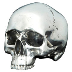 Hancocks Sterling Silver Model of a Human Skull
