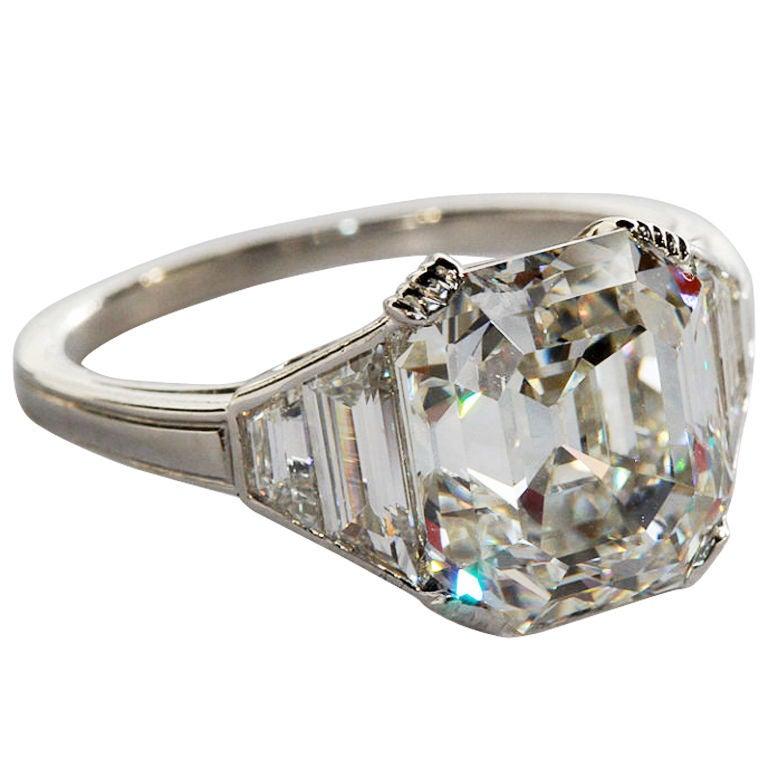 beautiful square emerald cut ring at 1stdibs