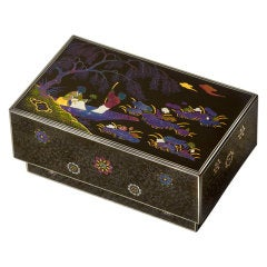 Meiji Beautiful Kobako Box with Somada Style Lacquer
