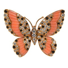 VAN CLEEF & ARPELS Gem-Set Butterfly Brooch/Pendant